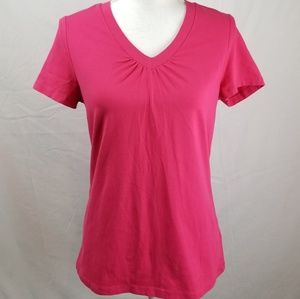 Charter Club   Ruched V Neck Short Sleeve Top
